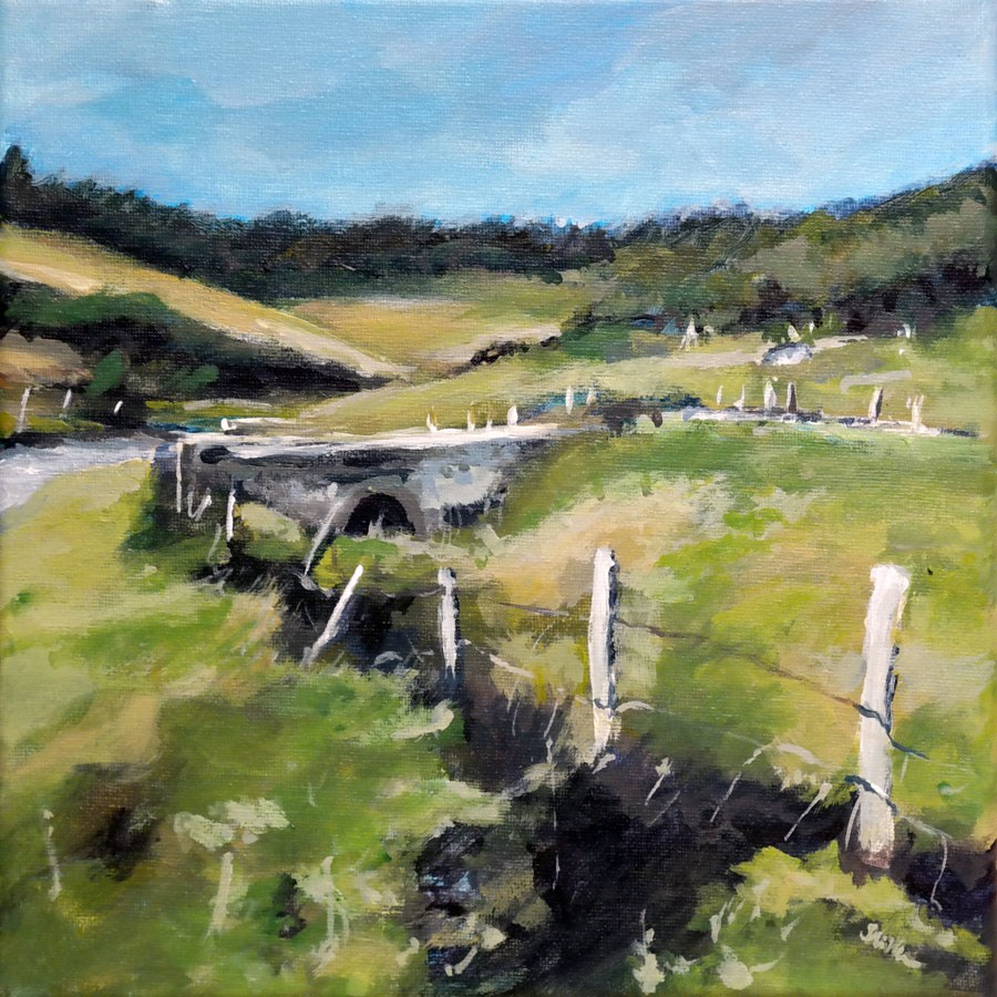 """""""1170 Bridge over Troubled Water"""" original fine art by Dietmar Stiller"""