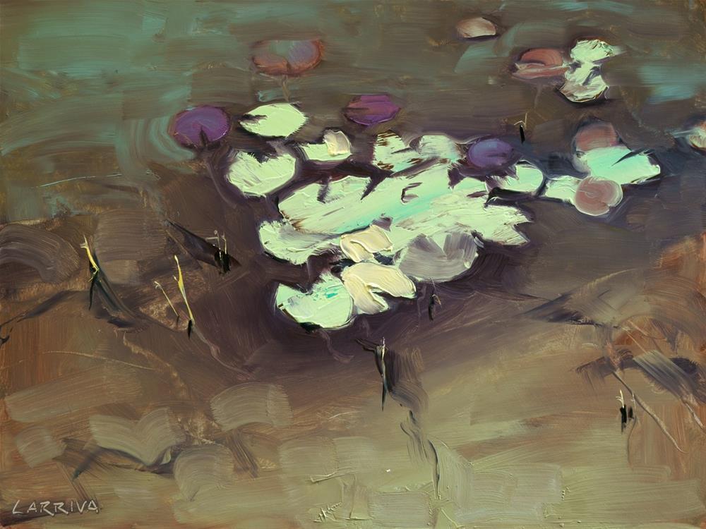 """Lily Pads"" original fine art by John Larriva"