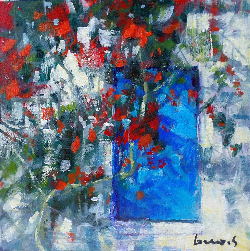 """The blue door"" original fine art by salvatore greco"