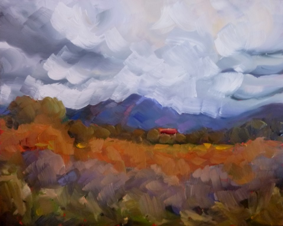 """DP6 TAOS HOMESTEAD"" original fine art by Dee Sanchez"