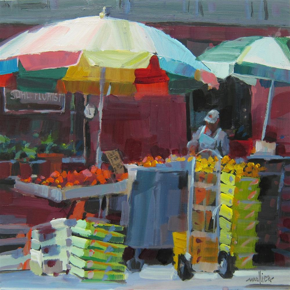 """Soho Florist"" original fine art by Patti Mollica"