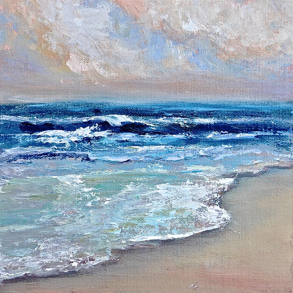 """Incoming Tide"" original fine art by Jacquelyn Blue"