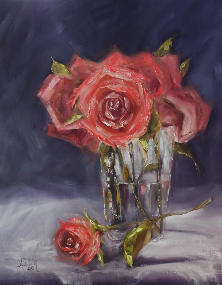 """Romance floral painting by Alabama Artist Angela Sullivan"" original fine art by Angela Sullivan"