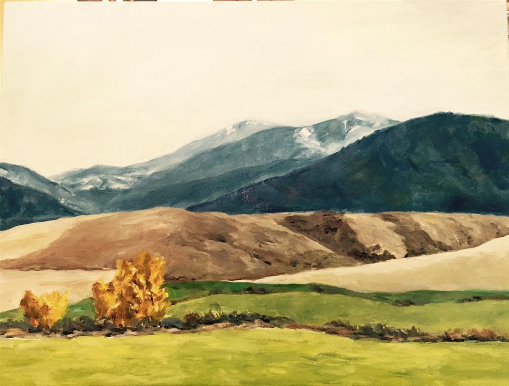 """Montana symphony #2"" original fine art by Lucy Hammett"