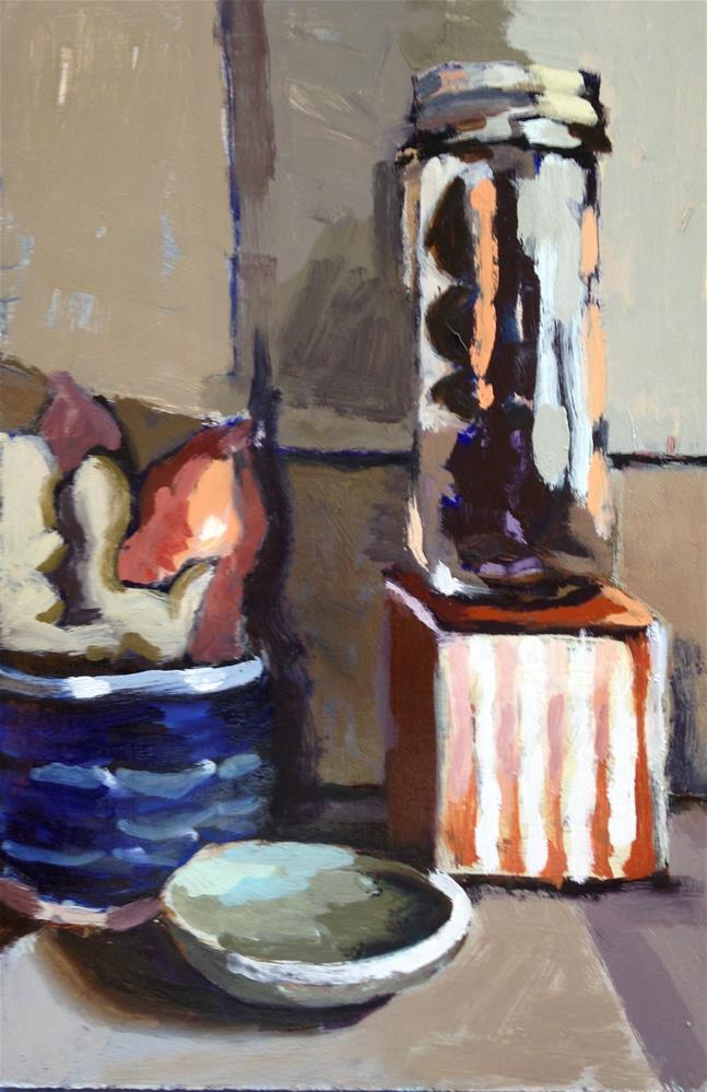 """Ginger, Sweet Potatoes & Dates, Oh My"" original fine art by Pamela Hoffmeister"