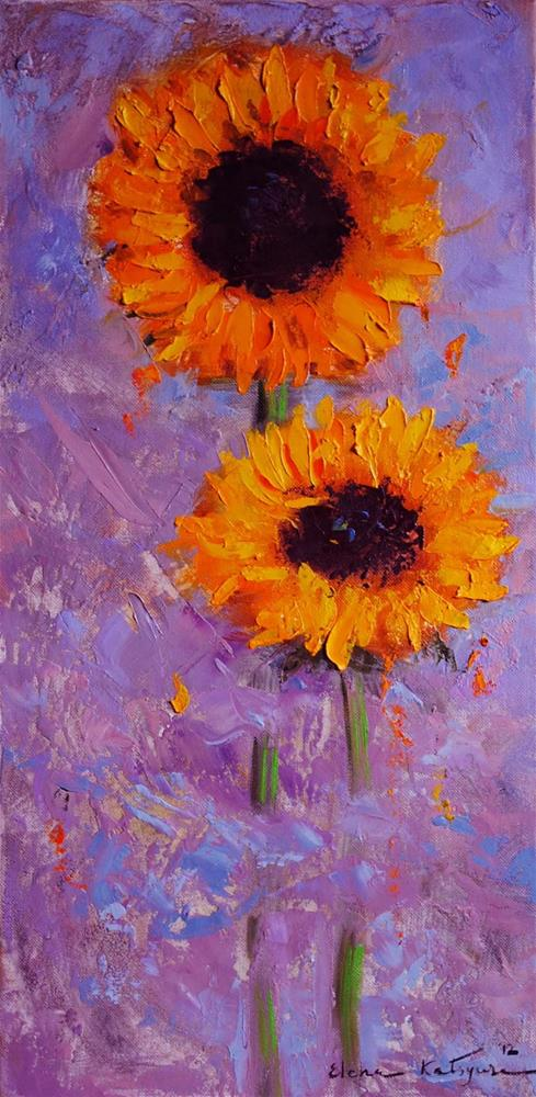 """Sunflowers"" original fine art by Elena Katsyura"