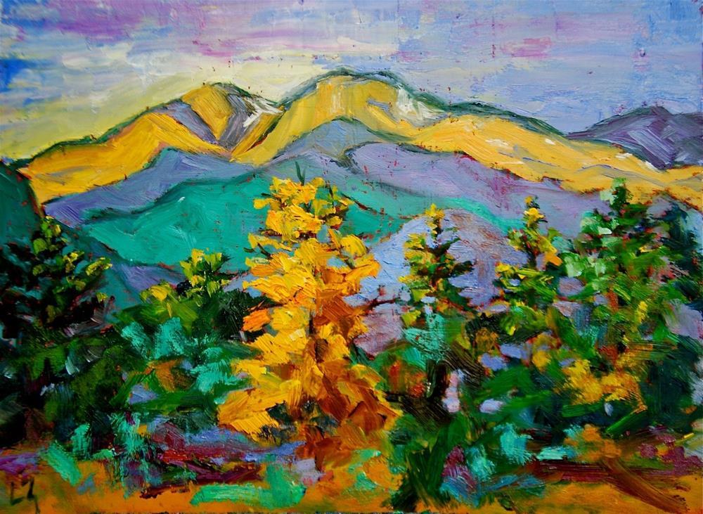 """View of Long's Peak"" original fine art by Liz Zornes"