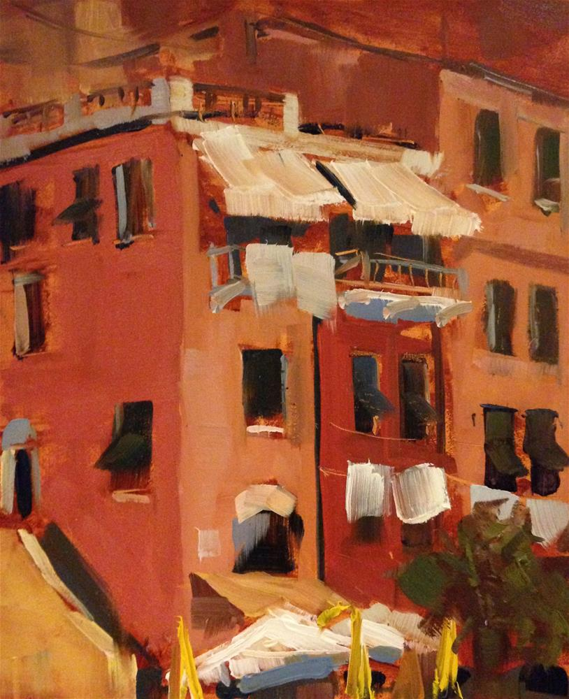 """#169 Cinque Terre, Italy #2"" original fine art by Patty Voje"