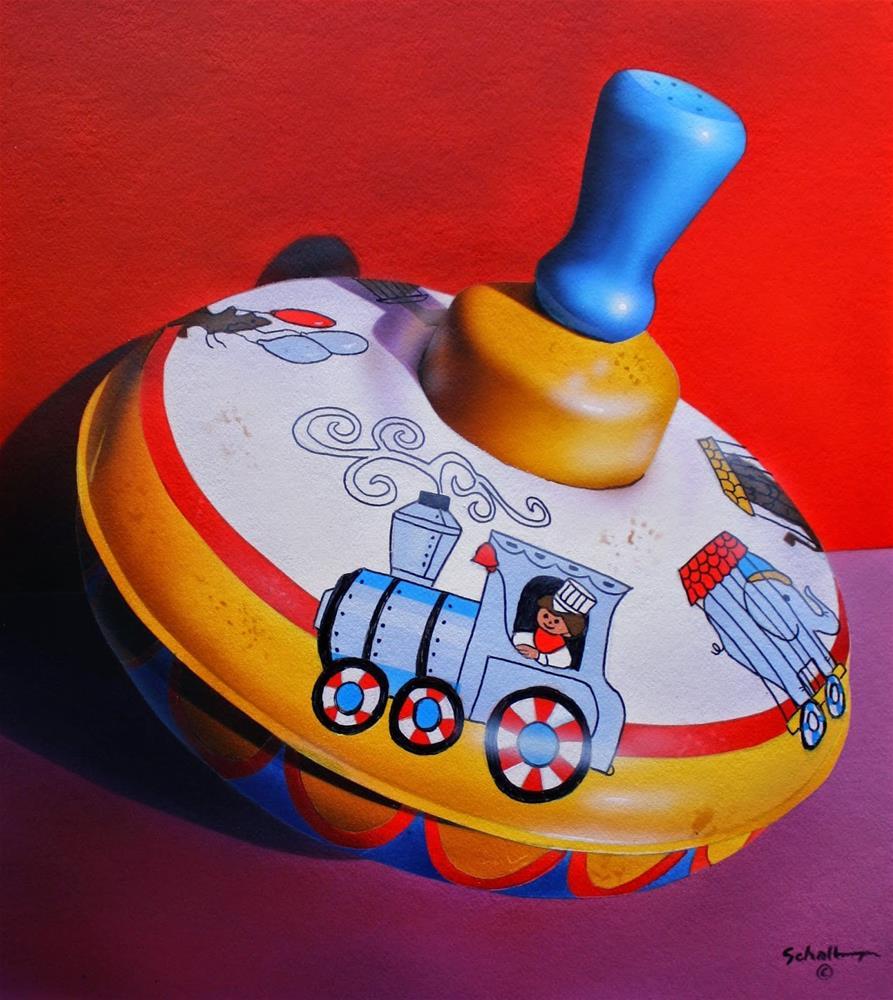 """Circus Spinner"" original fine art by Fred Schollmeyer"