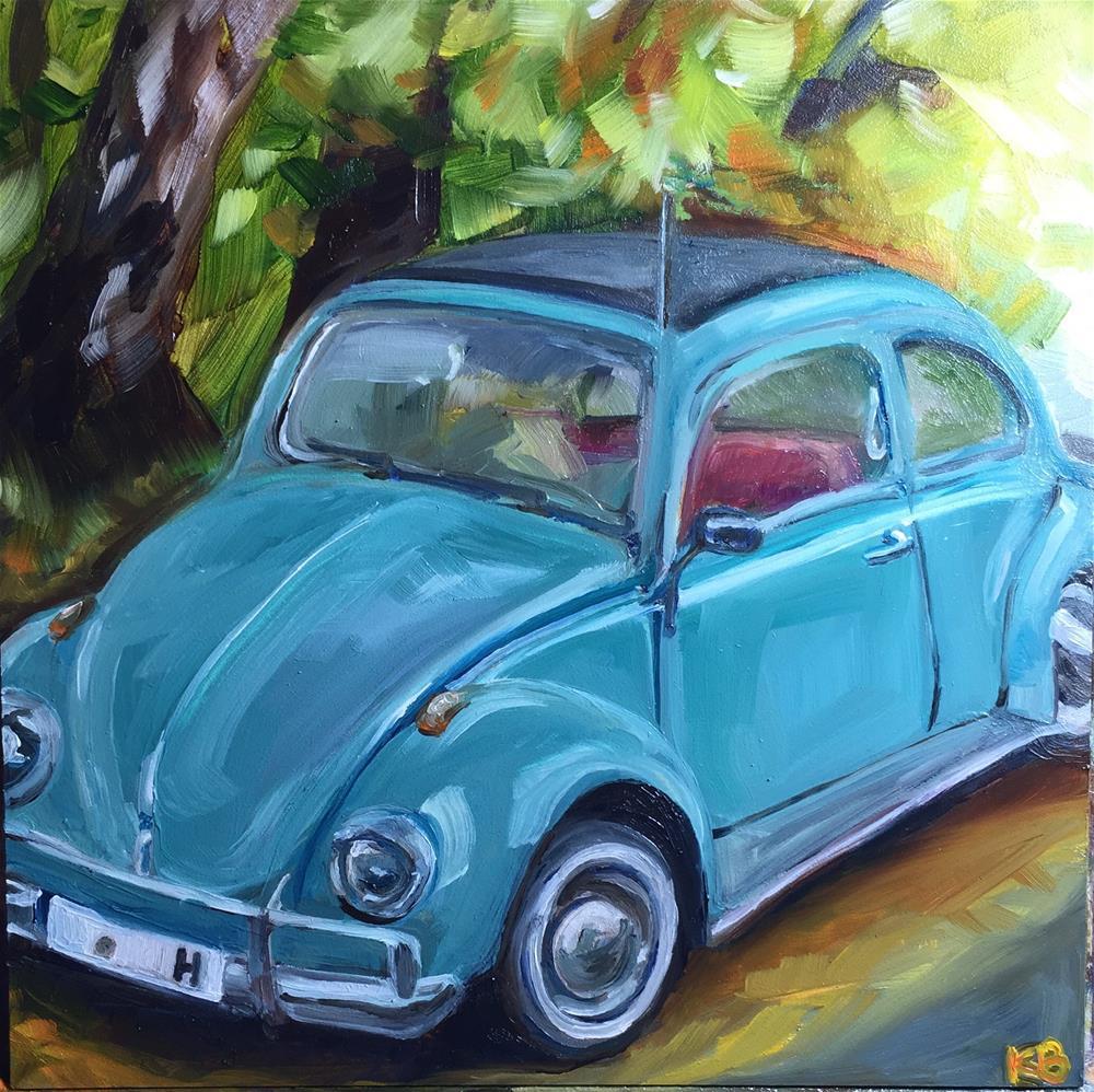 """My little blue bug"" original fine art by Kim Boyer"