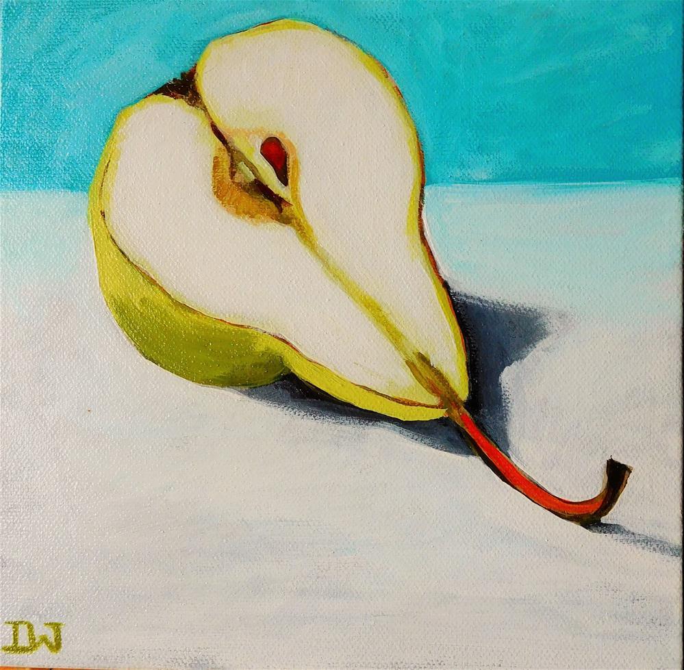 """""""Half a Pear"""" original fine art by Daryl West"""