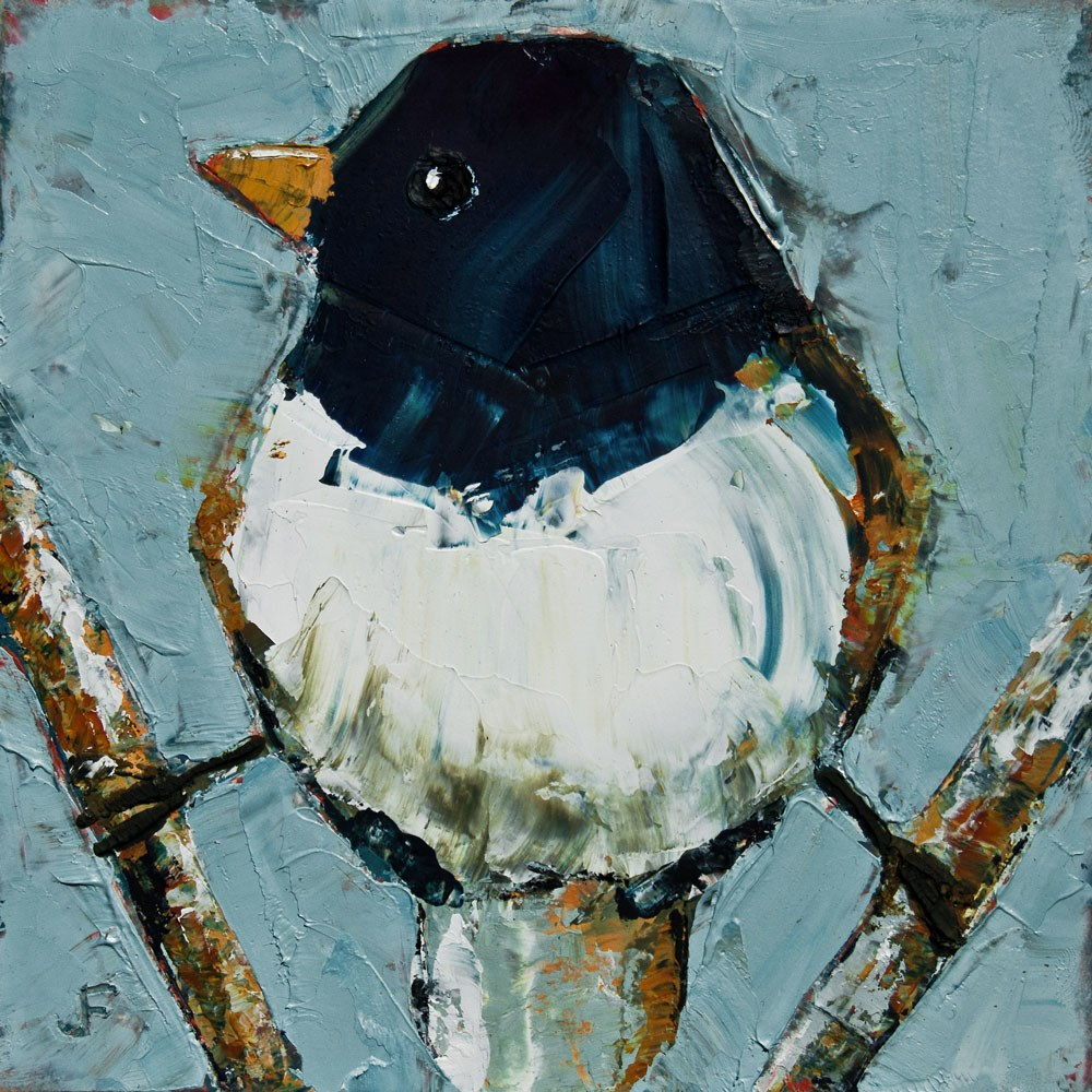 """Junco On Stilts"" original fine art by Jani Freimann"