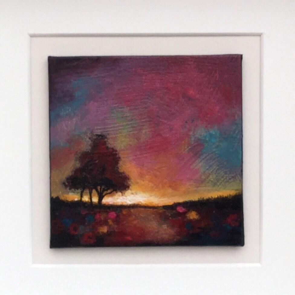 """Mini sunset tree"" original fine art by Jane Palmer"