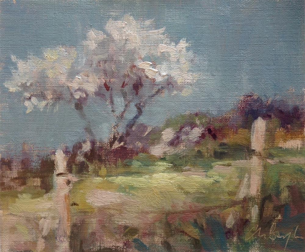 """Blooming tree"" original fine art by Christine Bayle"