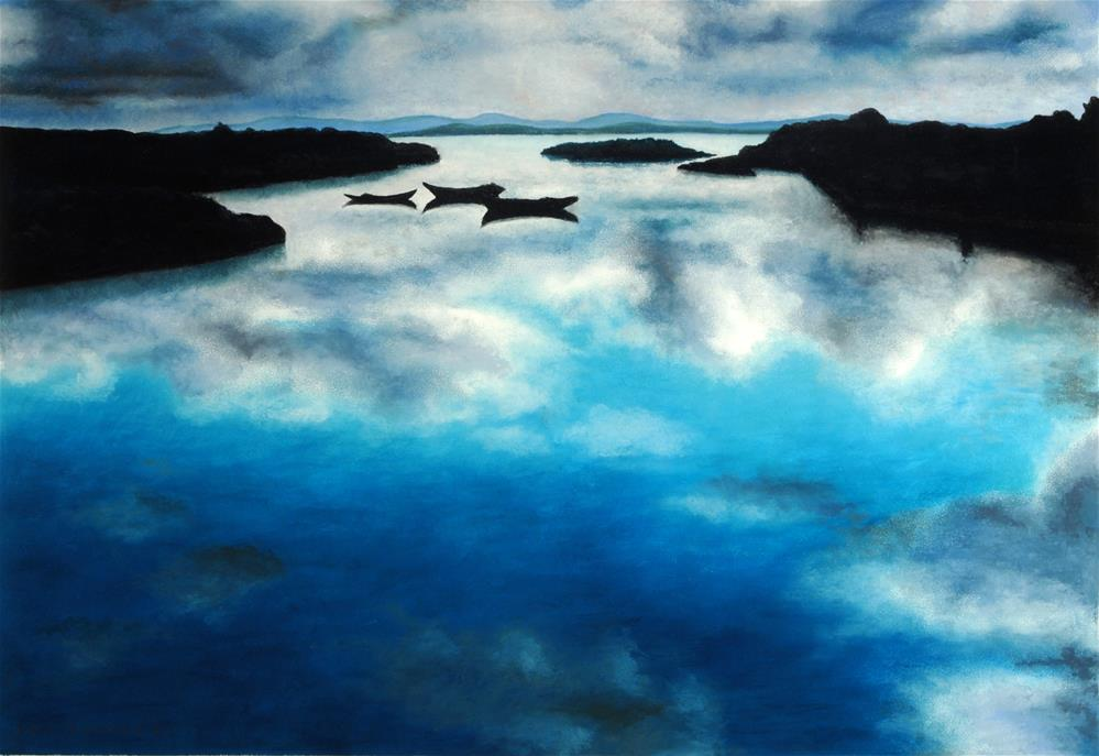 """Galway Reflections"" original fine art by Joe Fitzgerald"