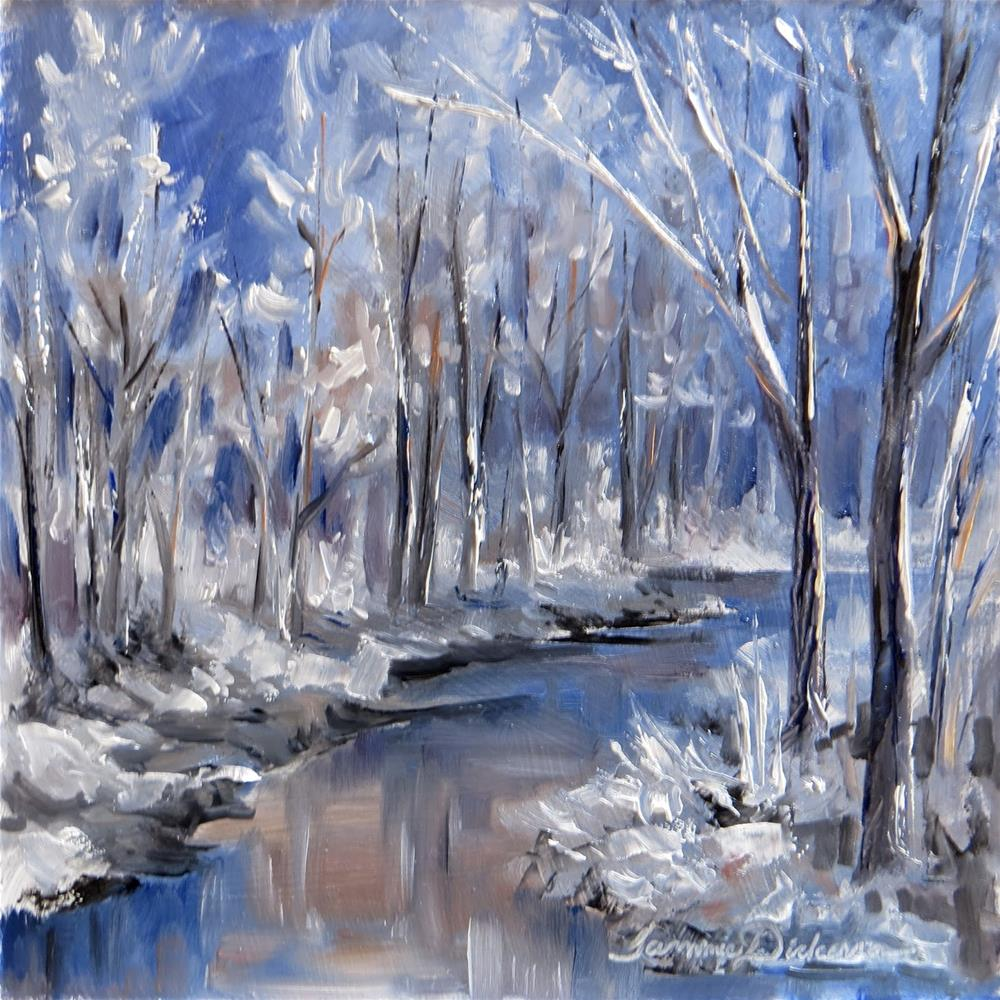 """Icy Creek"" original fine art by Tammie Dickerson"