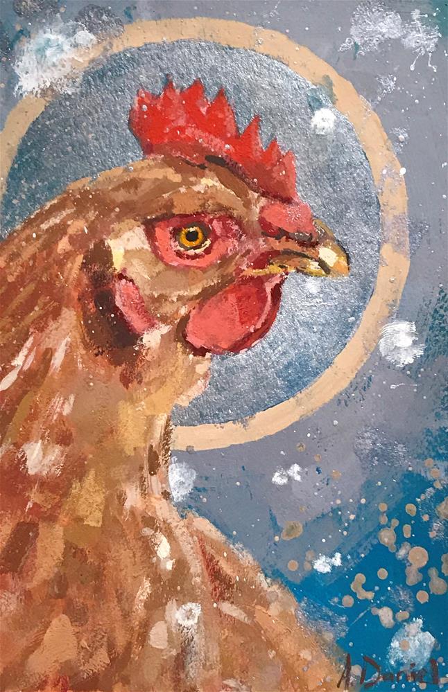 """Chicken Head #10 "" original fine art by Andrew Daniel"