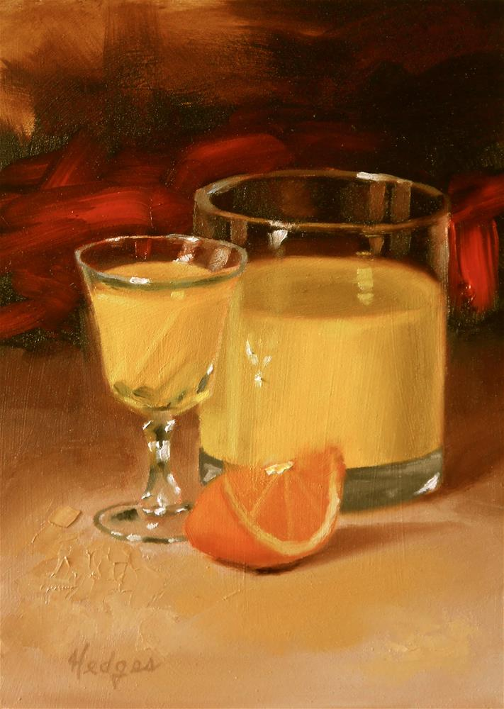 """Orange Juice"" original fine art by Bruce Hedges"