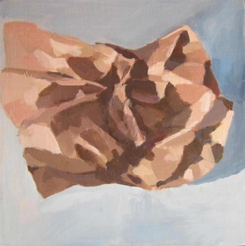 """brown paper study"" original fine art by Kaethe Bealer"