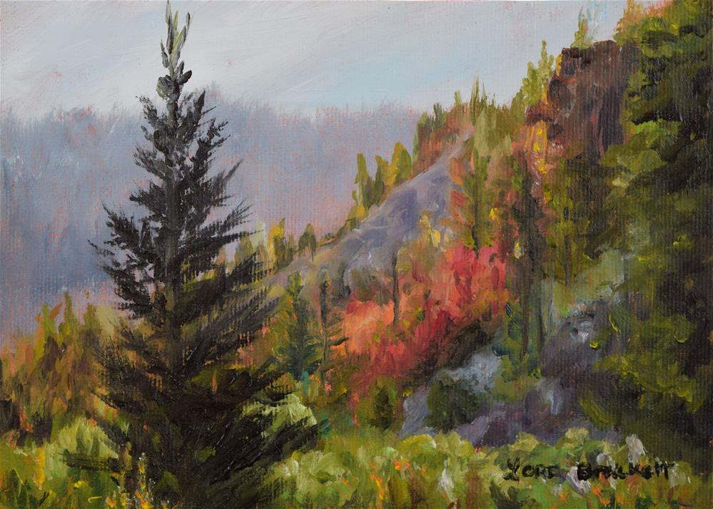 """Mountain Slope Fall"" original fine art by Lori Brackett"