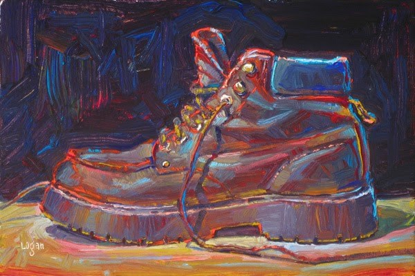 """Skecher Boot"" original fine art by Raymond Logan"