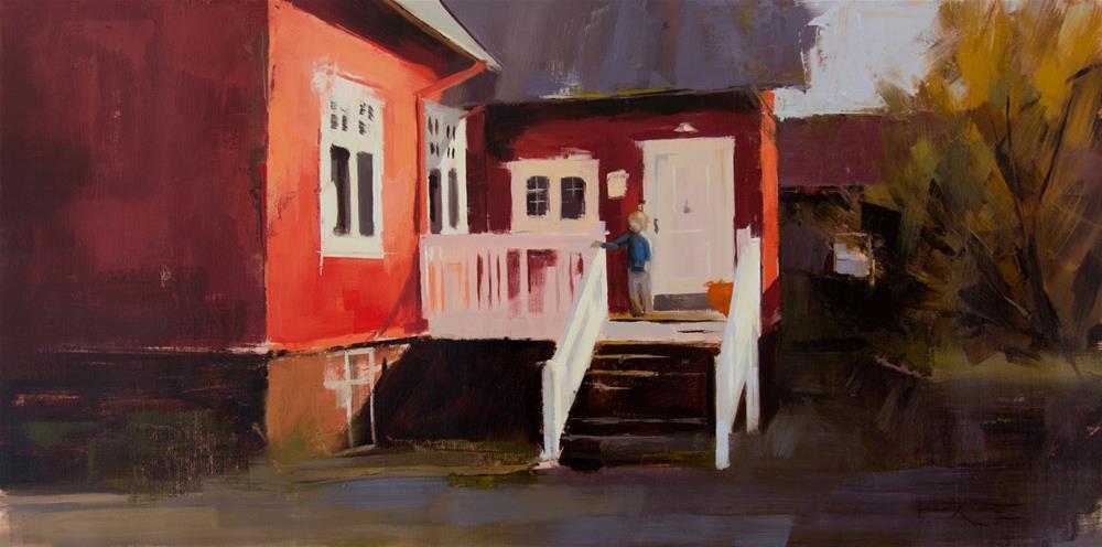 """""""Reykjavík, Bakkastígur"""" original fine art by Thorgrimur Andri Einarsson"""