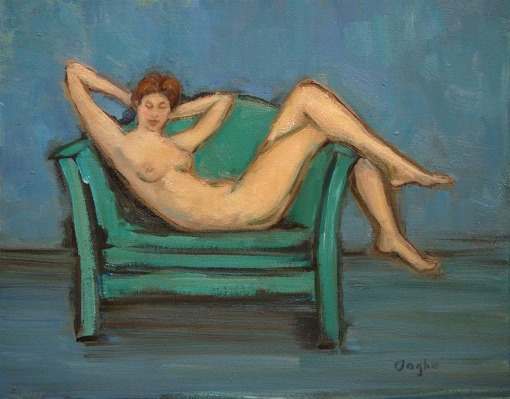 """Smiling Nude"" original fine art by Angela Ooghe"