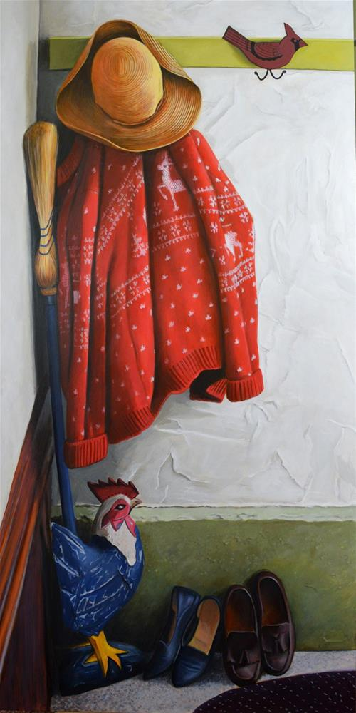 """The Red Sweater"" original fine art by Kim Testone"