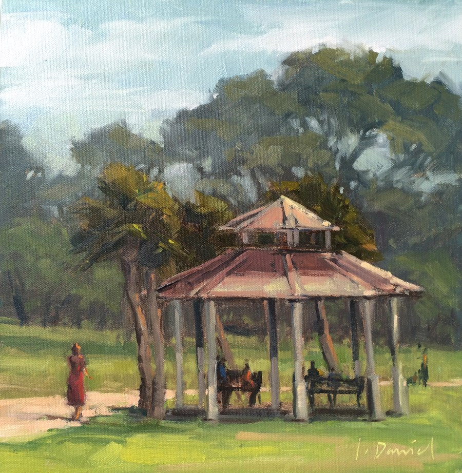 """Park Gazebo"" original fine art by Laurel Daniel"
