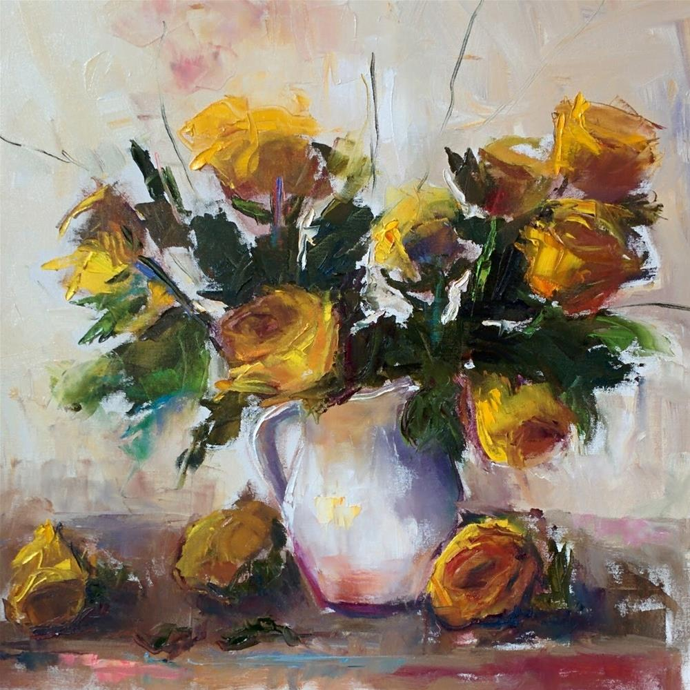 """Roses in Yellow"" original fine art by pepa sand"