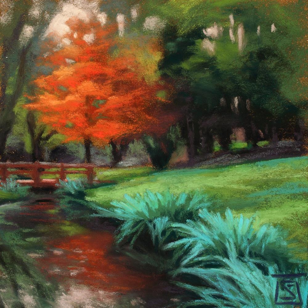 """""""Reflection, Little Spokane"""" original fine art by Sheila Evans"""