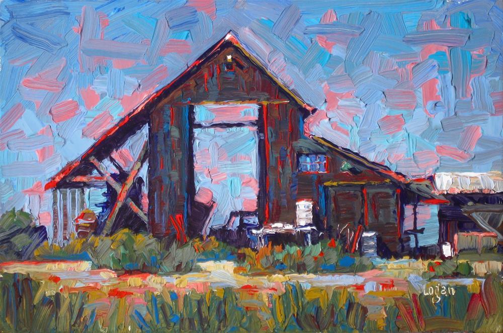 """Old Nipomo Barn"" original fine art by Raymond Logan"