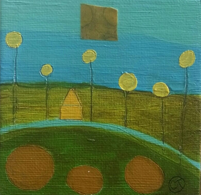 """""""Yellow House 7 House # 139"""" original fine art by Christy Tremblay"""