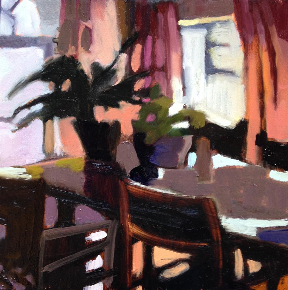 """Dining Room Jazz"" original fine art by Pamela Hoffmeister"