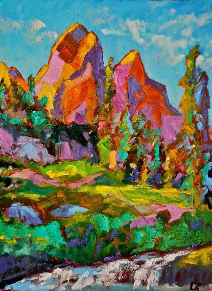 """Rocky Mountain Color"" original fine art by Liz Zornes"