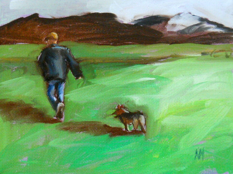 the rancher original fine art by Angela Moulton