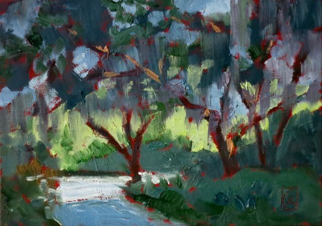 """James Island Path"" original fine art by Lucinda Howe"