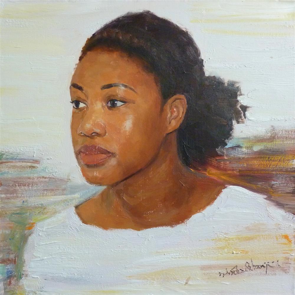 """Pure Gold"" original fine art by Adebanji Alade"