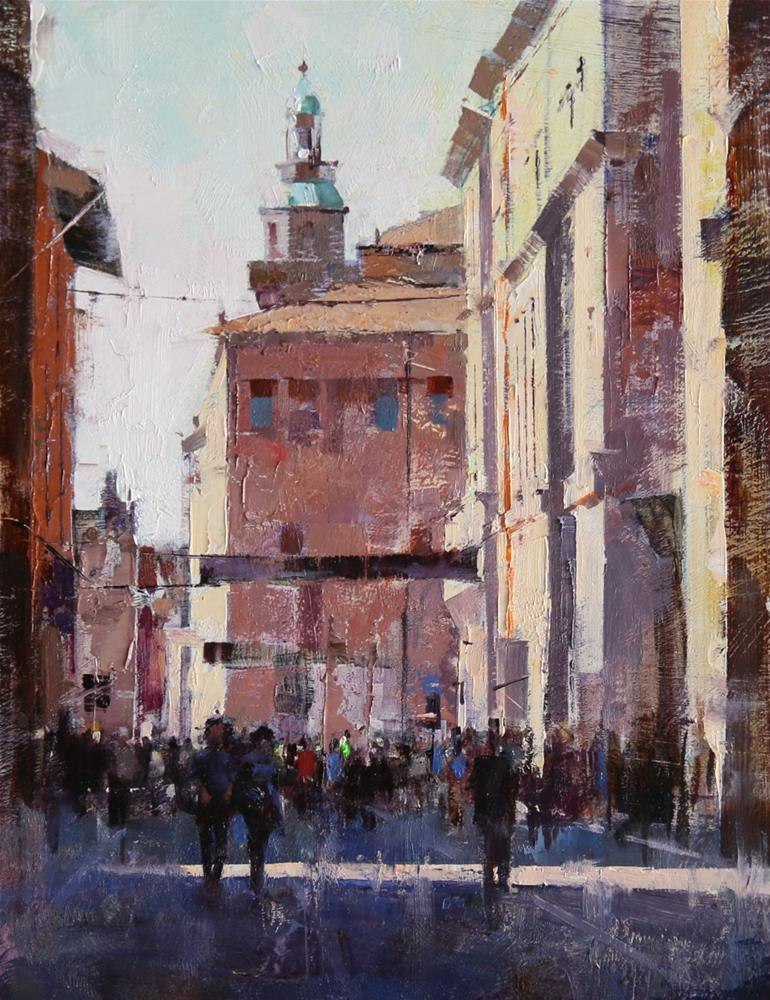 """""""T-Day in Bologna"""" original fine art by Qiang Huang"""