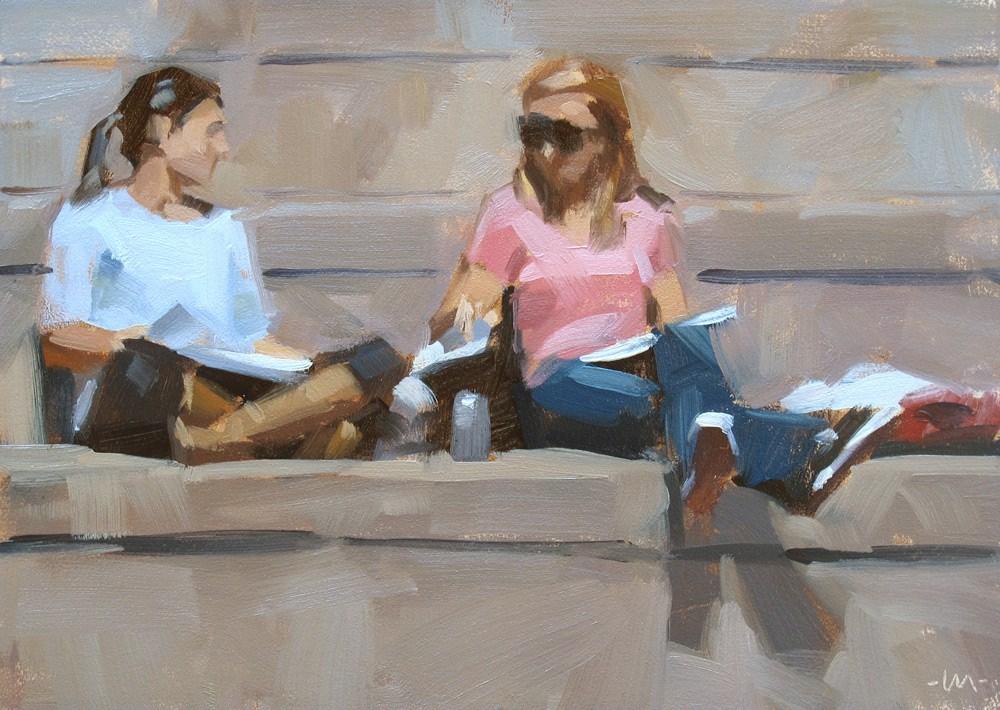"""Study Break"" original fine art by Carol Marine"