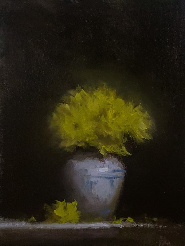 """Chrysanthemums"" original fine art by Neil Carroll"