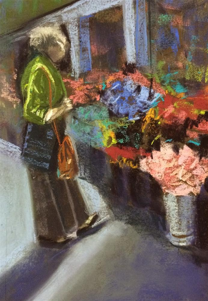"""Tallinn Flower Stall"" original fine art by Cristine Kossow"
