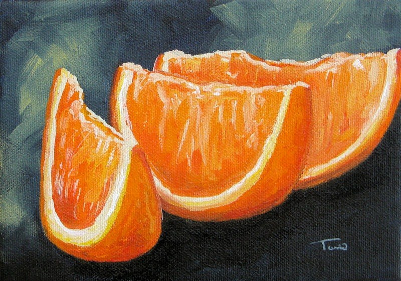 """Orange Slices"" original fine art by Torrie Smiley"