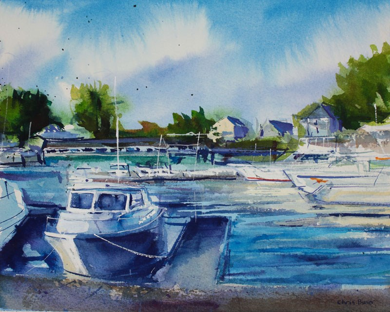 """Newfane Marina"" original fine art by Chris  Breier"