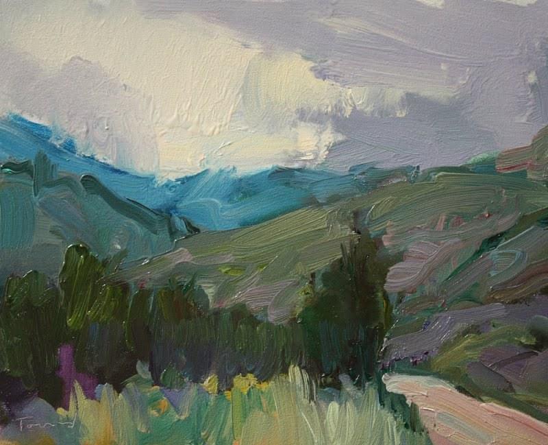 Up From Winthrop original fine art by Kathryn Townsend