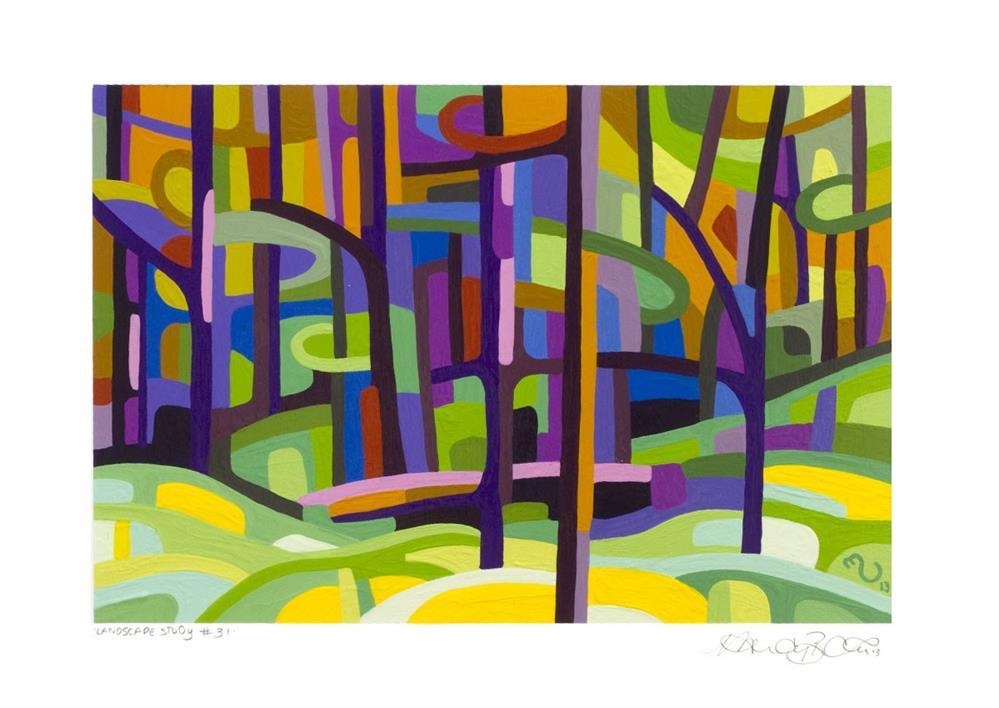 """Landscape Study #31"" original fine art by Mandy Budan"