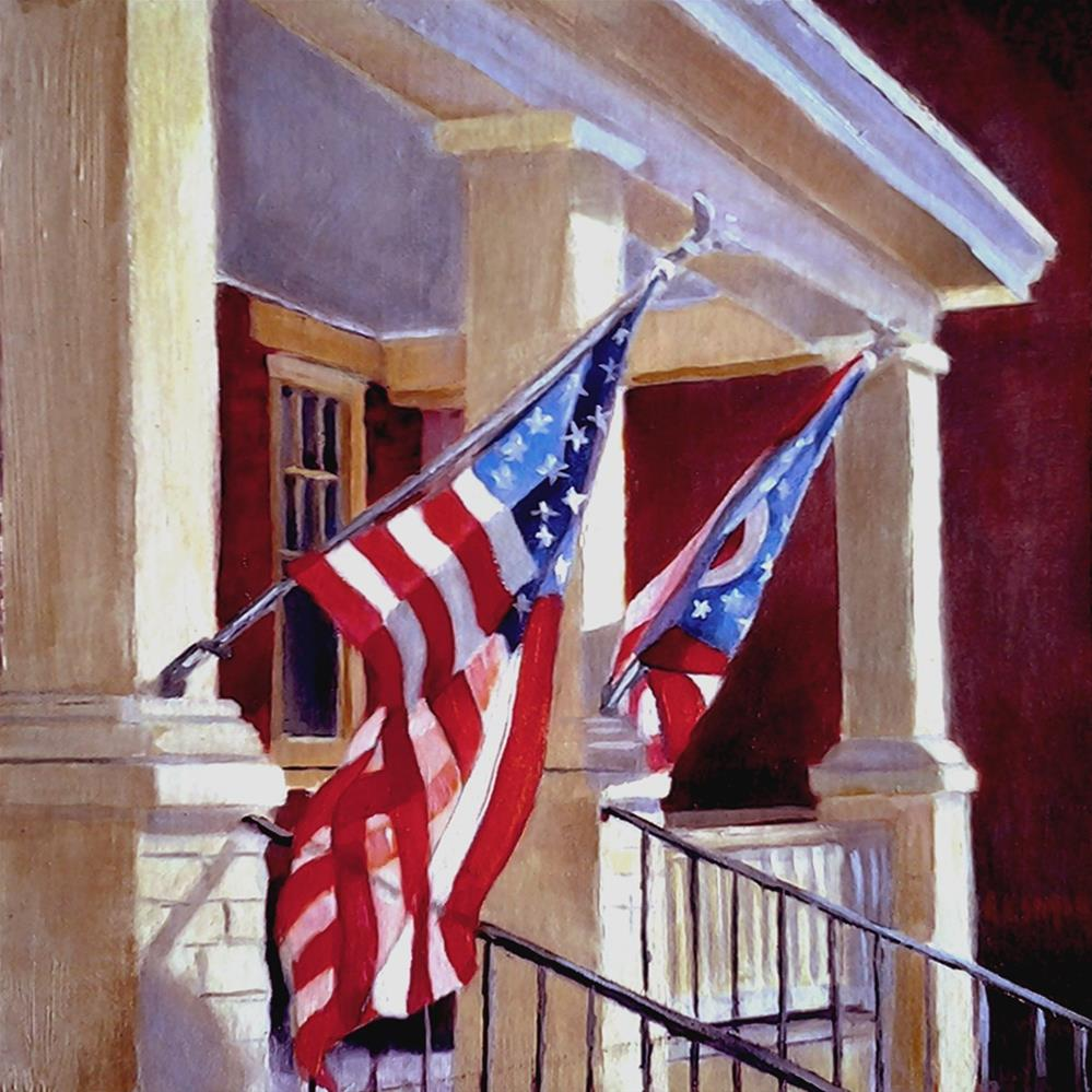 """Home & Country"" original fine art by A.K. Simon"