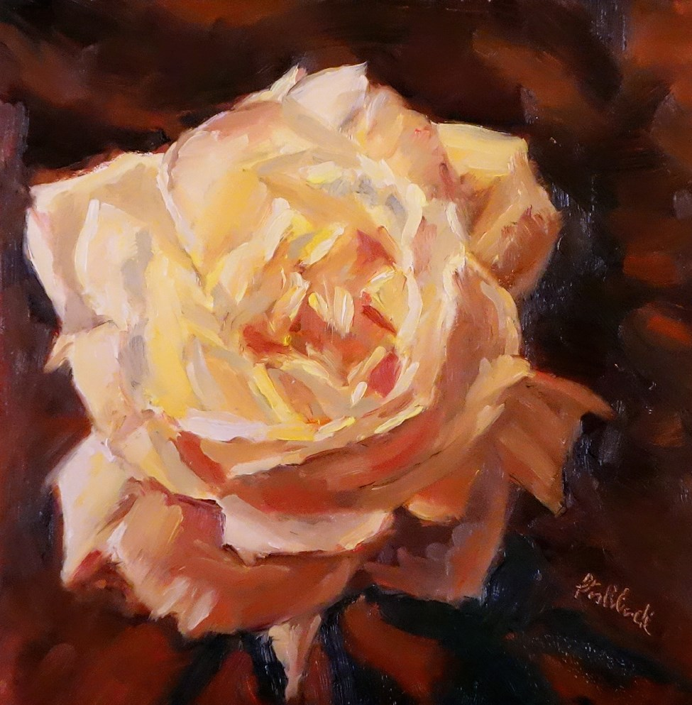 """Yellow Rose"" original fine art by Daniel Fishback"
