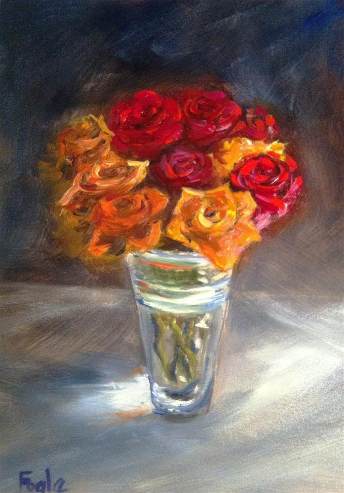 """Just Because"" original fine art by Rachel Fogle"