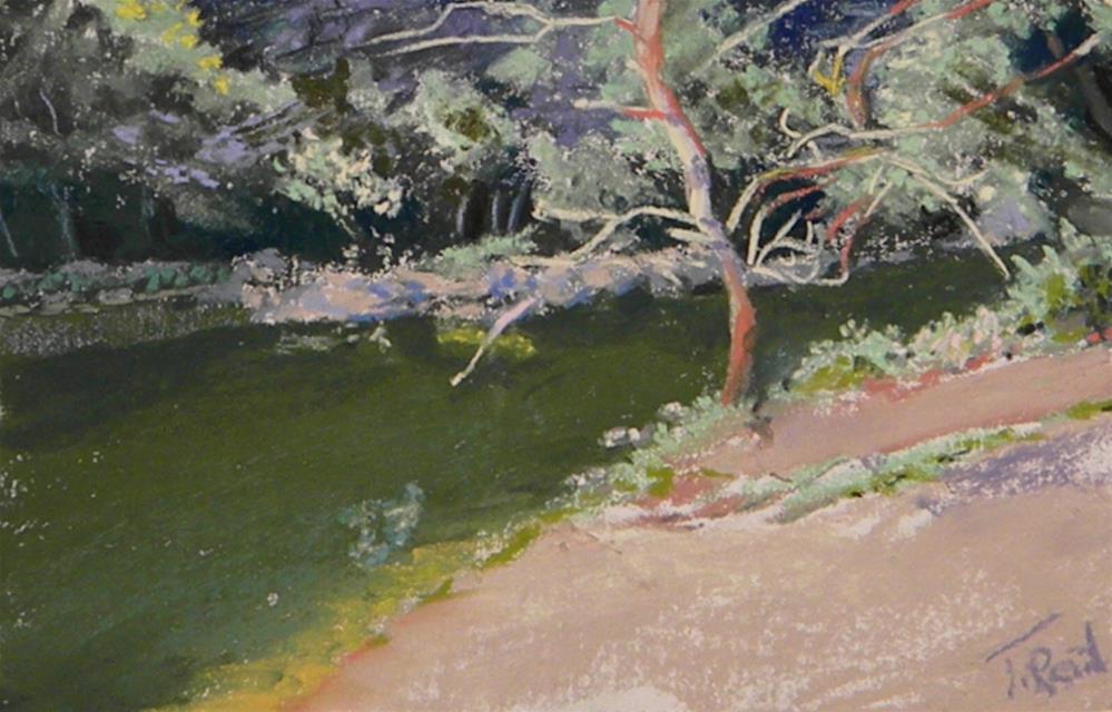 """""""By the creek"""" original fine art by Toby Reid"""